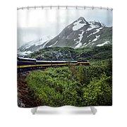 Alaska Train Shower Curtain