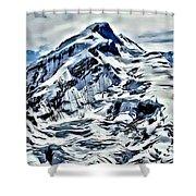 Alaska Volcano Shower Curtain