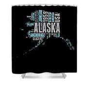 Alaska Word Cloud 1 Shower Curtain