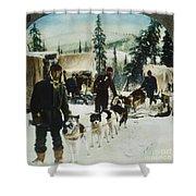 Alaskan Dog Sled, C1900 Shower Curtain
