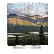 Alaskan Glacial Valley Shower Curtain
