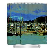 Alaskan Harbor 7 Shower Curtain