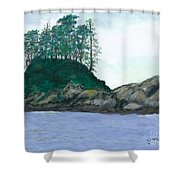 Alaskan Islet Shower Curtain