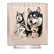 Alaskan Malamute Shower Curtain