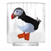 Alaskan Puffin Shower Curtain