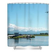 Alaskan Seaplane Base Shower Curtain