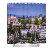 Albayzin View Granada Shower Curtain