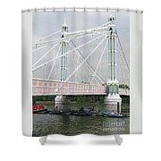 Albert Bridge Shower Curtain