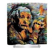 Albert Einstein - By Prar Shower Curtain