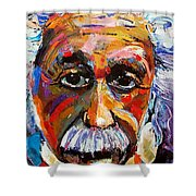 Albert Einstein Genius Shower Curtain