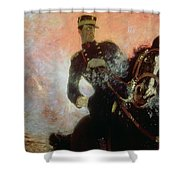 Albert I King Of The Belgians In The First World War Shower Curtain by Ilya Efimovich Repin