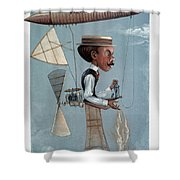 Alberto Santos-dumont Shower Curtain