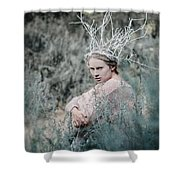 Albino In Forest Shower Curtain