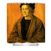 Albrecht Durer Father 1497 Shower Curtain