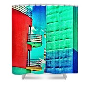 Albufeira New Town 1 Shower Curtain