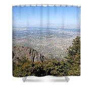 Albuquerque And The Rio Grande Shower Curtain