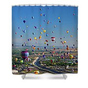 Albuquerque Balloon Fiesta Shower Curtain