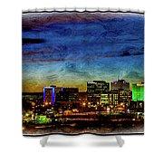 Albuquerque New Mexico Skyline Shower Curtain