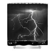 Albuquerque Thunderstorm Shower Curtain
