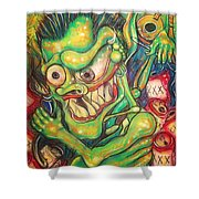 Alcoholic Demon Shower Curtain