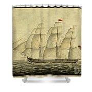 Alcono Sailing Vessel Shower Curtain