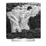 Aldeyjarfoss Waterfall Iceland 3381 Shower Curtain