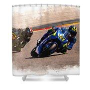 Aleix Espargaro Team Suzuki Ecstar Shower Curtain