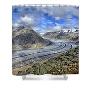 Aletsch Glacier, Switzerland Shower Curtain