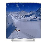 Alex Lowe On Mount Bearskin 2850 M Shower Curtain