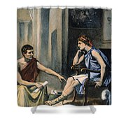 Alexander & Aristotle Shower Curtain