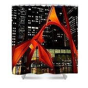 Alexander Calder's Flamingo Shower Curtain