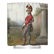 Alexander Ivanovitch Sauerweid 1783-1844 British Army. Private, Life Guards. About 1816 Shower Curtain