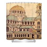 Alexander Nevsky Cathedral Shower Curtain