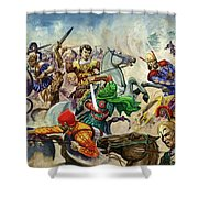 Alexander The Great At The Battle Of Issus  Shower Curtain