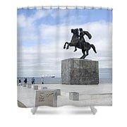 Alexander The Great, Thessaloniki, Greece Shower Curtain