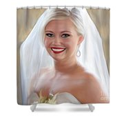 Alexis Champ Shower Curtain