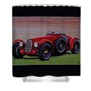 Alfa Romeo 8c 2900a Botticella Spider 1936 Painting Shower Curtain