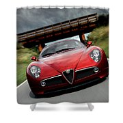 Alfa Romeo 8c Competizione Shower Curtain