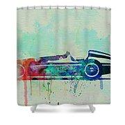 Alfa Romeo Tipo Watercolor Shower Curtain by Naxart Studio