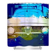 Alfa Romeo Watercolor Shower Curtain