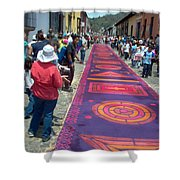 Alfombra In Purples Shower Curtain