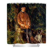 Alfred Berard And His Dog 1881 Shower Curtain