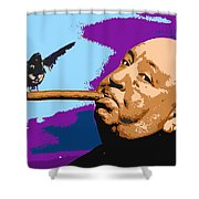 Alfred Hitchcock Shower Curtain by John Keaton