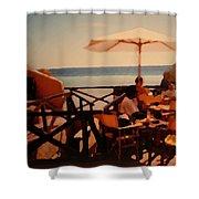 Algarve Beach Bar Shower Curtain