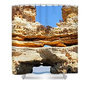 Algarve Rock Tunnel Shower Curtain
