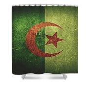 Algeria Distressed Flag Dehner Shower Curtain