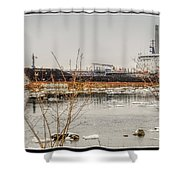 Algoma Hansa Blue Water River Walk Shower Curtain