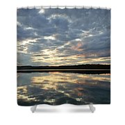 Algonquin Lake Sunset Shower Curtain