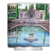 Alhambra Spain Reflections Shower Curtain