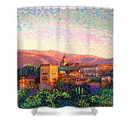 Alhambra, Granada, Spain Shower Curtain